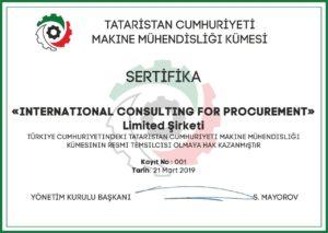 Tataristan Cumhuriyeti makine Üreticileri Derneği Resmi temsilcisi